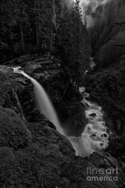 Photograph - Nooksack Falls Black And White Portrait by Adam Jewell