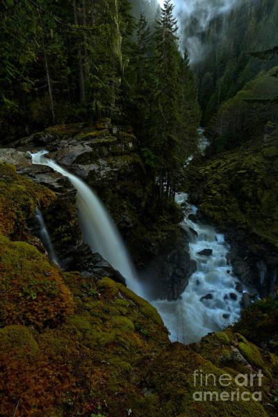 Photograph - Nooksack Falls Portrait by Adam Jewell