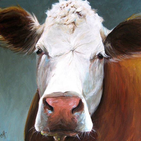 Wall Art - Painting - Nora The Cow by Cari Humphry