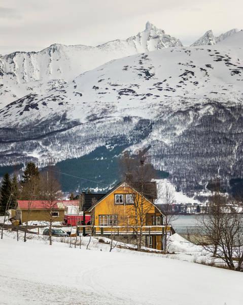 Photograph - Nordbotn Village House Troms Norway by Adam Rainoff