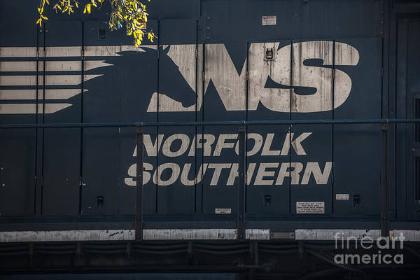 Photograph - Norfolk Southern Logo by Dale Powell