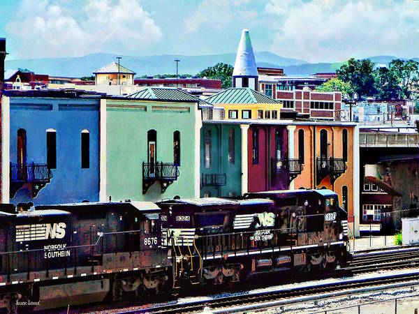 Photograph - Norfolk Va - Train With Two Locomotives by Susan Savad