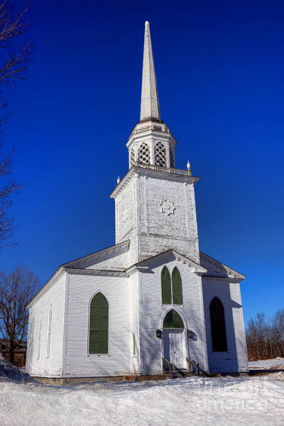 Edifice Photograph - Norland Church In Livermore Maine by Olivier Le Queinec
