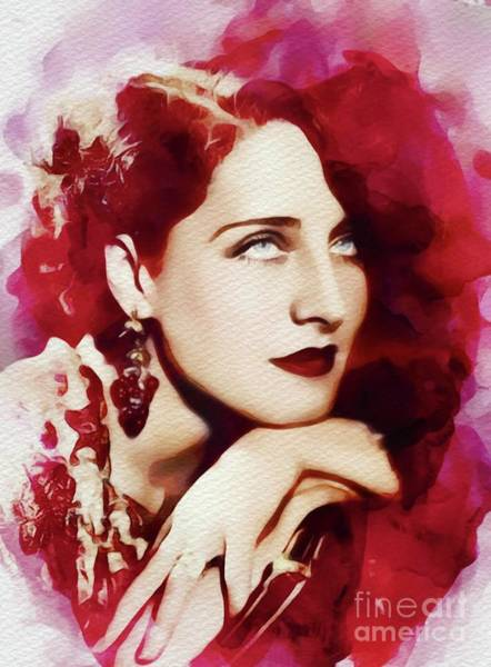Norma Wall Art - Painting - Norma Shearer, Movie Star by John Springfield