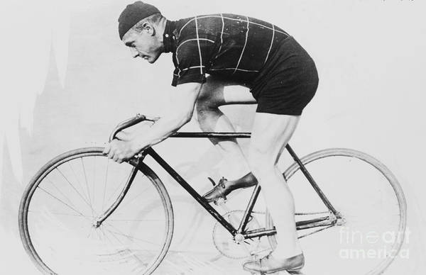 Norman Photograph - Norman Anderson On A Racing Bicycle, 1914 by American School