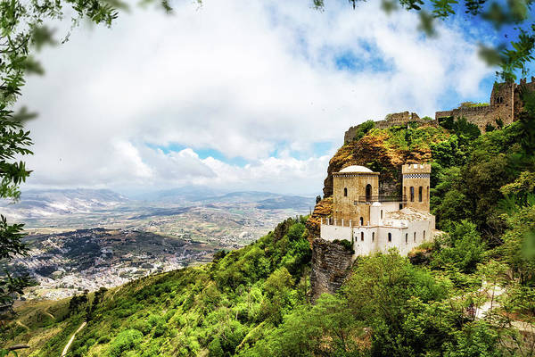 Wall Art - Photograph - Norman Castle On Mount Erice - Sicily Italy by Susan Schmitz