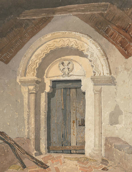 Painting - Norman Doorway, Tottenhill Church, Norfolk by John Sell Cotman