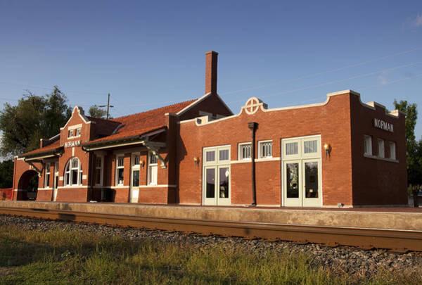 Ok Wall Art - Photograph - Norman Train Depot by Ricky Barnard