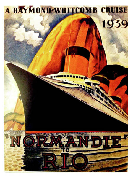 Normandy Painting - Normandy To Rio, Cruising Ship by Long Shot