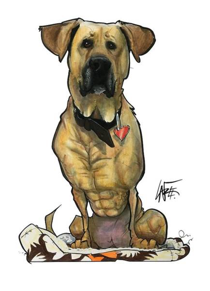Mutt Drawing - Norris 3918 by John LaFree