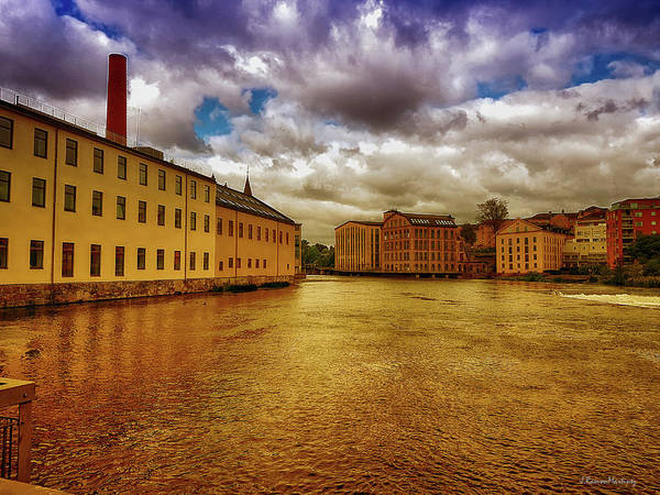 Wall Art - Photograph - Norrkoping In Golden Tones by Ramon Martinez