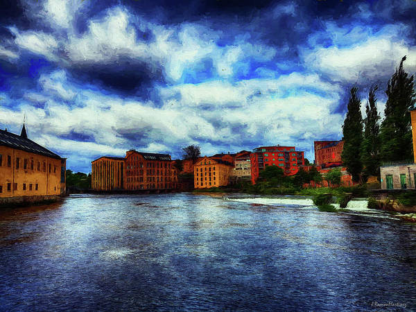 Wall Art - Digital Art - Norrkoping In Painting Effect I by Ramon Martinez