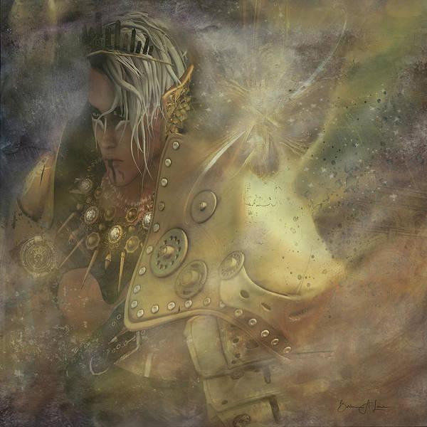 Digital Art - Norse Warrior by Barbara A Lane