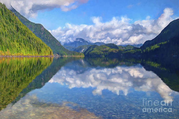 Alouette Wall Art - Photograph - North Alouette Lake Digital Painting by Sharon Talson