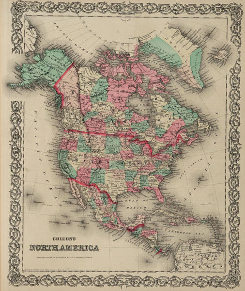 Wall Art - Painting - North America by Colton