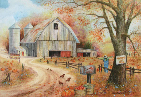 Wall Art - Painting - North American Autumn by Robert Boast Cornish