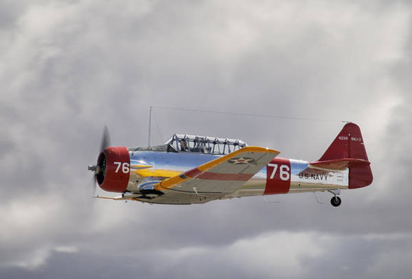 Harvard Propeller Photograph - North American Harvard  Vh-nzh by Barry Culling