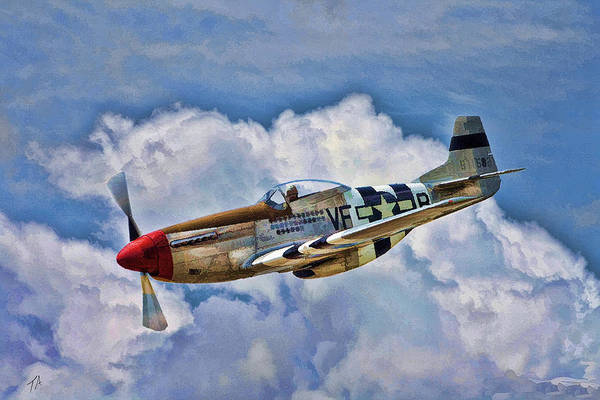Wall Art - Digital Art - North American P-51 Mustang  by Tommy Anderson