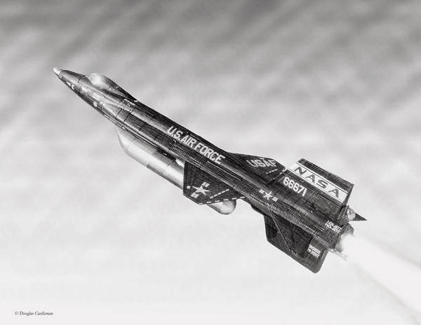 Digital Art - North American X-15 by Douglas Castleman