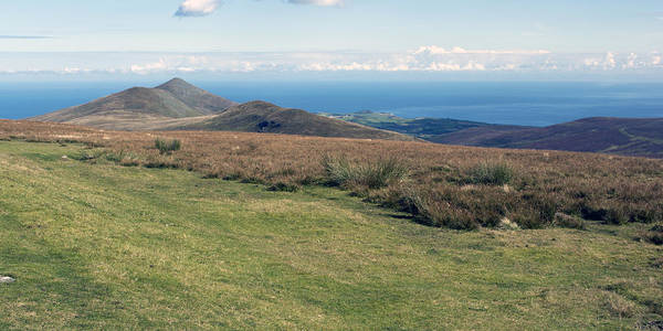 North Barrule And Maughold Head Art Print by Steve Watson