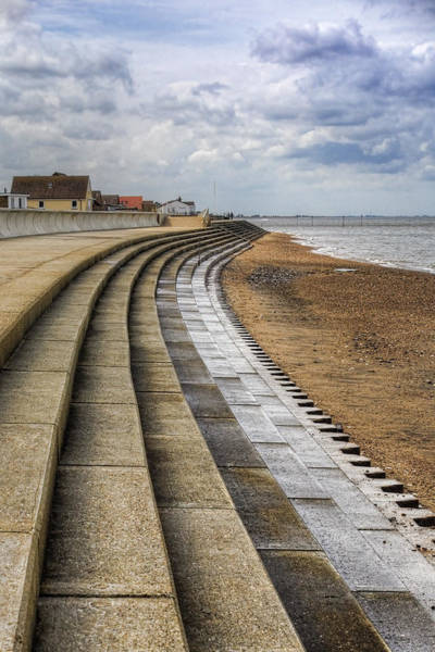 Norfolk Wall Art - Photograph - North Beach Heacham Norfolk by John Edwards