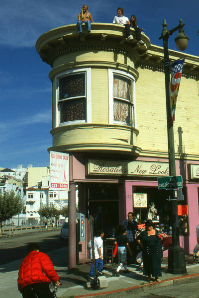 Photograph - San Francisco North Beach Corner by Peter Potter