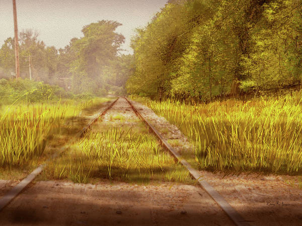 Digital Art - South-bound Tracks by Barry Jones