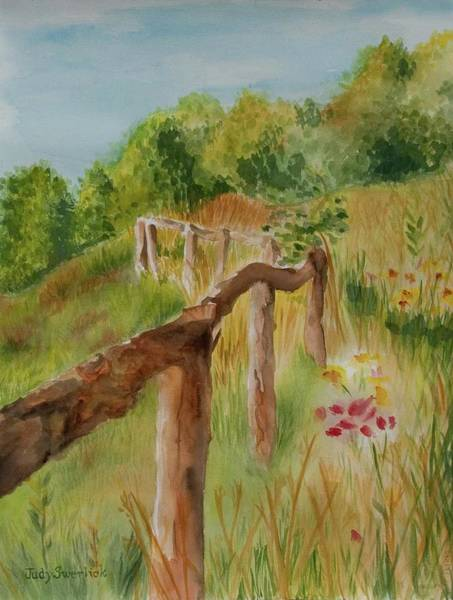 Wall Art - Painting - North Carolina Apple Orchard by Judy Swerlick
