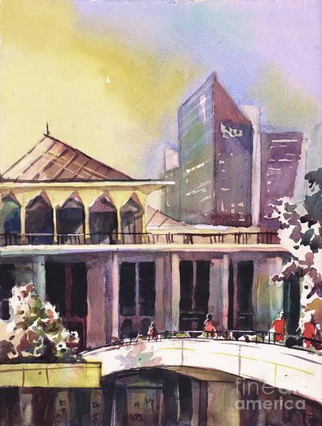 Downtown Raleigh Wall Art - Painting - North Carolina Legislative Building II by Ryan Fox