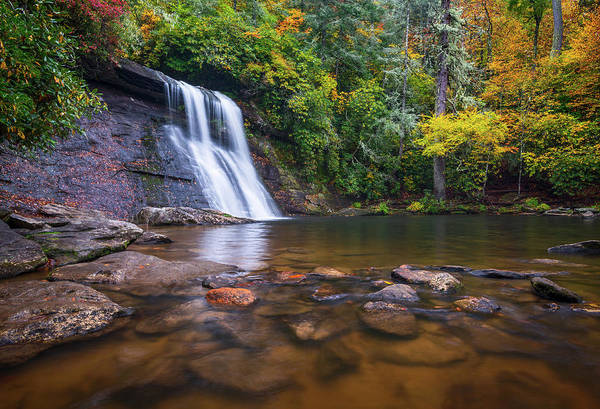 Wall Art - Photograph - North Carolina Nature Landscape Silver Run Falls Waterfall Photography by Dave Allen