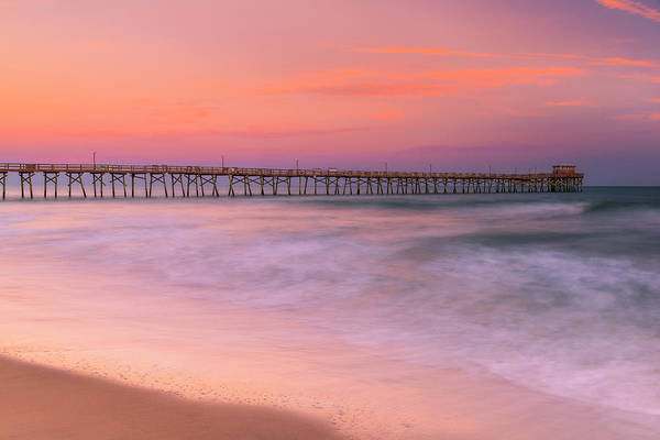 Photograph - North Carolina Oceana Fishing Pier At Sunset by Ranjay Mitra