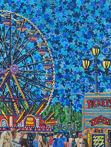 Wall Art - Painting - North Carolina State Fair 6 by Micah Mullen