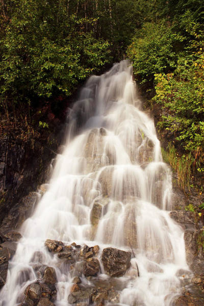 Photograph - North Cascade Waterfall by David Lunde