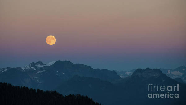 Table Mountain Wall Art - Photograph - North Cascades Full Moonrise by Mike Reid