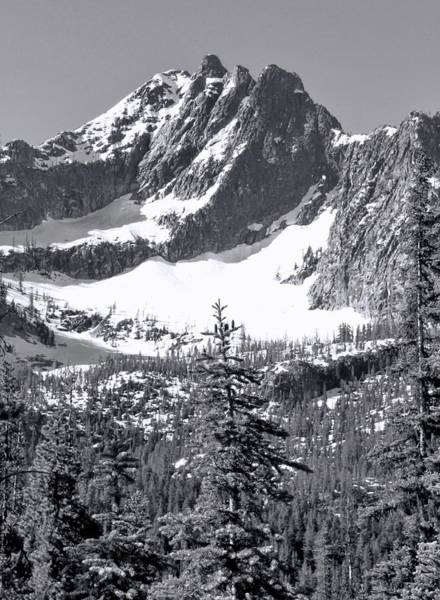 Photograph - North Cascades Mountain Range Black And White by Dan Sproul