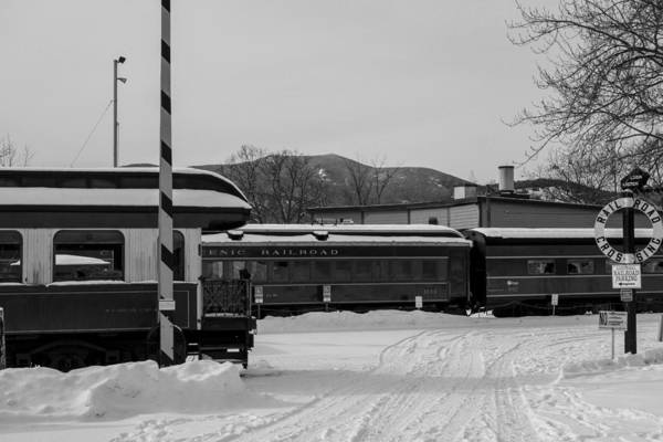 Photograph - North Conway Nh Scenic Railroad Black And White by Toby McGuire