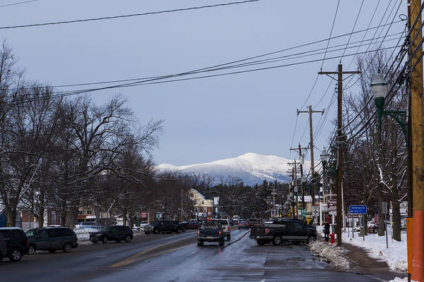 Photograph - North Conway Winter Mountains Downtown by Toby McGuire