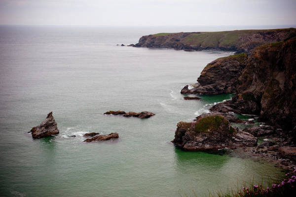 Photograph - North Cornwall Cliffs by Helen Northcott