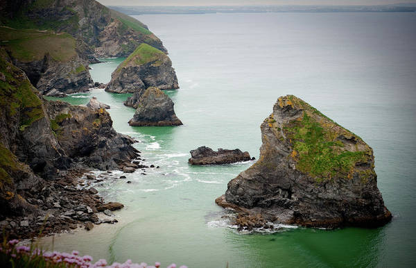 Photograph - North Cornwall Cliffs II by Helen Northcott