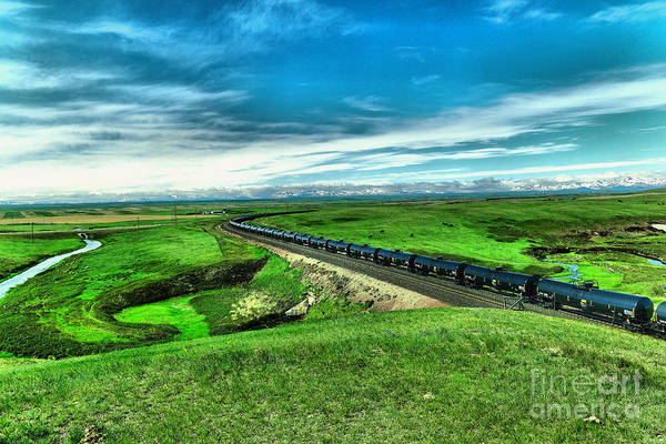 Wall Art - Photograph - North Dakota.crude Oil On West Bound Rail by Jeff Swan