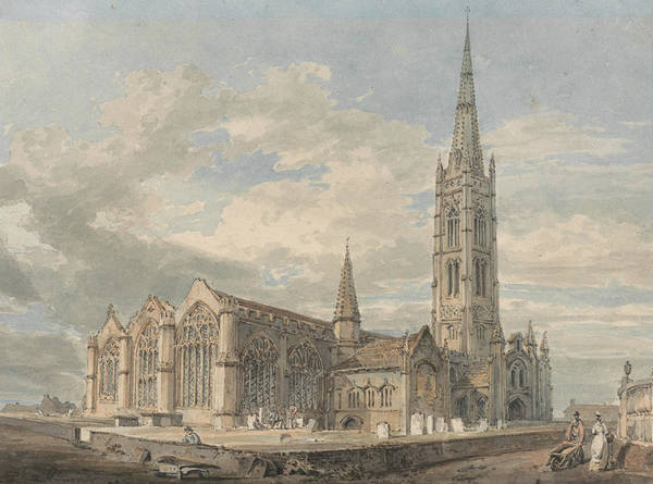 Painting - North East View Of Grantham Church Lincolnshire by Joseph Mallord William Turner