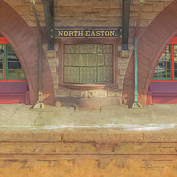 Painting - North Easton Train Station At Solstice by Bill McEntee