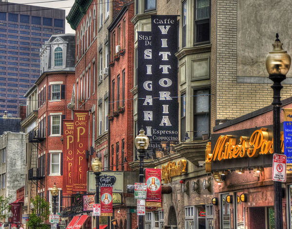 Sidewalk Cafe Photograph - North End Charm 11x14 by Joann Vitali