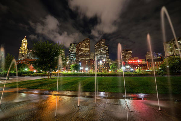 Photograph - North End Park Fountains Boston Ma by Toby McGuire