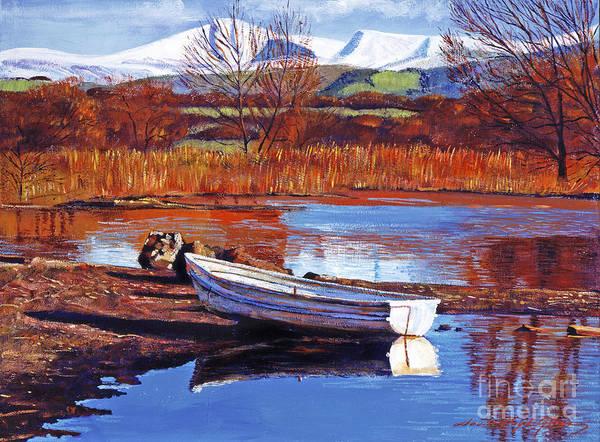 Mountain Lake Painting - North England Lake by David Lloyd Glover
