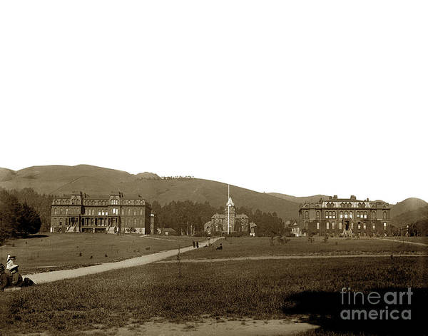 Photograph - North Hall, Bacon Hall, Library, South Hall, University Of California At Berkeley Circa 1905 by California Views Archives Mr Pat Hathaway Archives