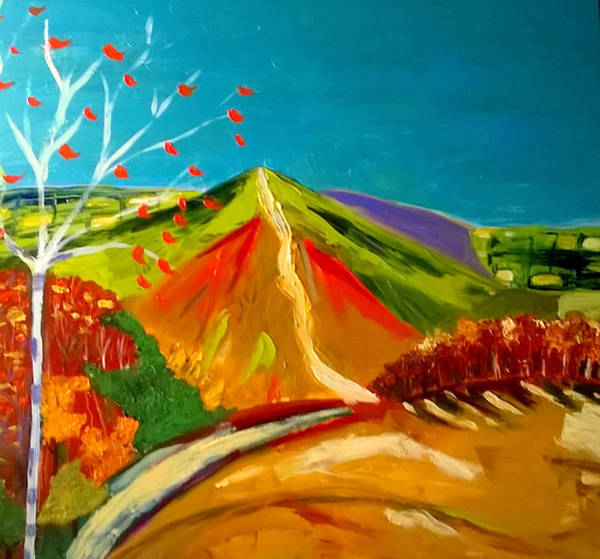 Painting - North Hill Malvern In Autumn by Rusty Gladdish