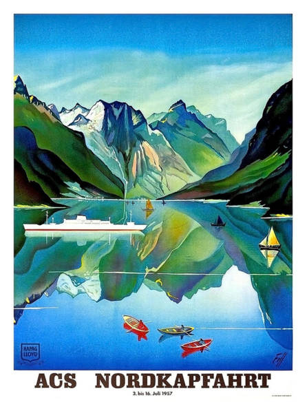 Norway Painting - North Kape, Norway, Vintage Travel Poster by Long Shot