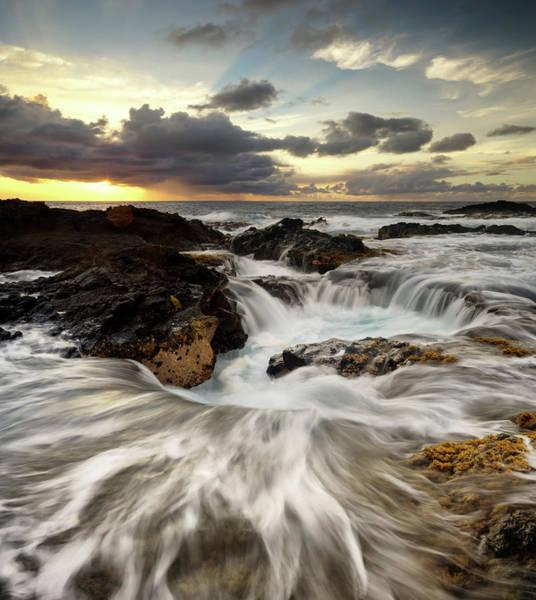 Photograph - North Kona Coastline by Christopher Johnson