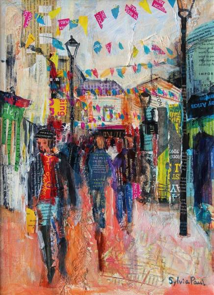 Bunting Painting - North Laines  Brighton by Sylvia Paul